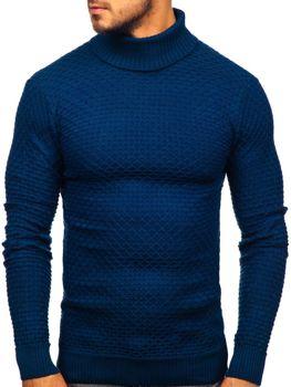 Чоловічий светр гольф синій Bolf 322