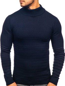 Чоловічий светр гольф темно-синій Bolf 4518