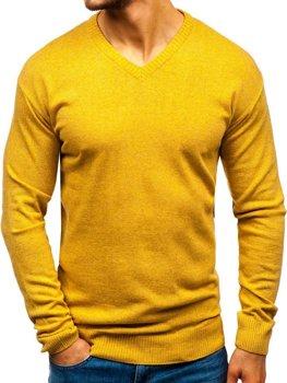 Чоловічий светр з v-подібним вирізом кемел Bolf 6002
