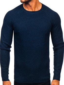 Чоловічий светр темно-синій Bolf H1810