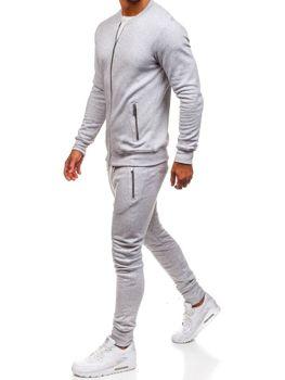 Чоловічий спортивний костюм сірий Bolf 43S
