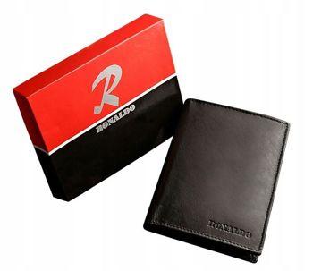 Чоловічий шкіряний гаманець чорний 612
