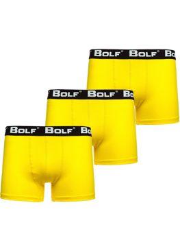 Чоловічі боксери Жовті Bolf 0953-3P 3 PACK