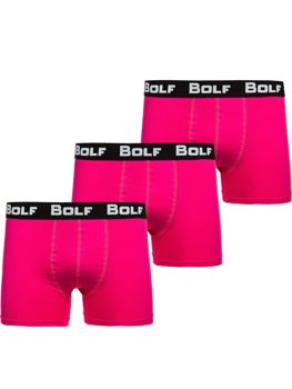 Чоловічі боксери рожеві Bolf 0953-3P 3 PACK