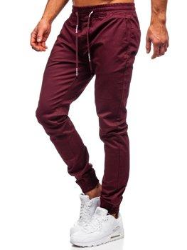 Чоловічі бордові штани джоггери Bolf KA951