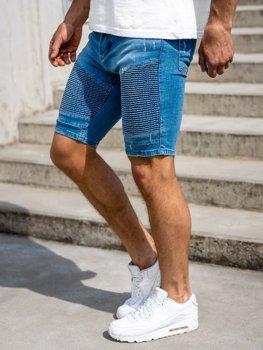 Чоловічі джинсові шорти сині Bolf 1058