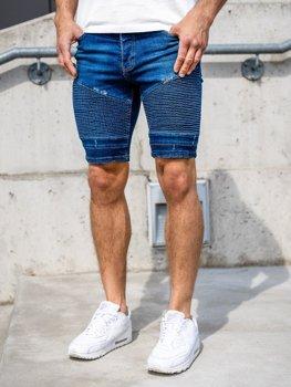 Чоловічі джинсові шорти темно-сині Bolf 1058