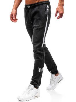 Чоловічі джинсові штани джогери чорні Bolf2055 6e8aa079f8642