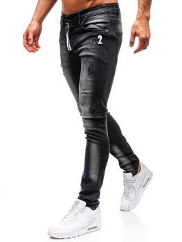 Чоловічі джинсові штани чорні Bolf 9243