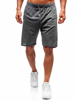 Чоловічі спортивні шорти графітові Bolf DK01