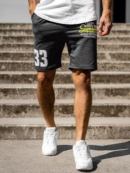 Чоловічі спортивні шорти графітові Bolf EX06