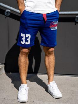 Чоловічі спортивні шорти сині Bolf EX06