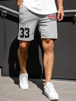 Чоловічі спортивні шорти сірі Bolf EX06