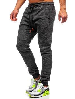 Чоловічі спортивні штани антрацитово-помаранчеві Bolf Q3778