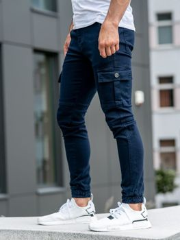 Чоловічі штани джогери темно-сині Bolf 2039-1