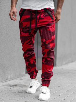 Чоловічі штани джогери червоні Bolf 0952