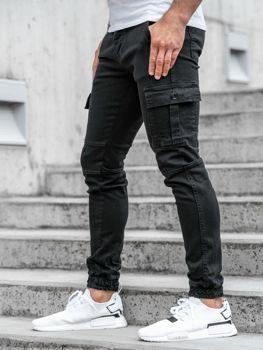 Чоловічі штани джогери чорні Bolf 2039-1