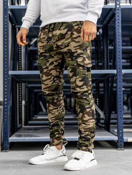 Чоловічі штани карго зелені Bolf 0857