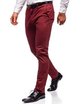 Чоловічі штани чінос червоні Bolf 1120