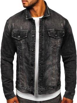 Чорна джинсова чоловіча куртка Bolf XSF78267