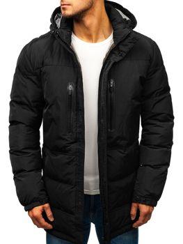 Чорна чоловіча зимова куртка Bolf 1669