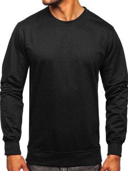 Чорна чоловіча толстовка без капюшона Bolf B10001