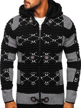 Чорний чоловічий светр товстої в'язки Bolf 2059