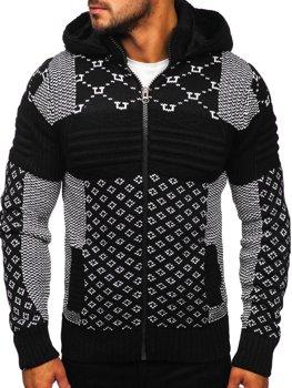 Чорний чоловічий светр товстої в'язки Bolf 2060