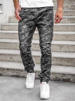 Чорні камуфляжні штани для бігу чоловічі Bolf RB9489DT