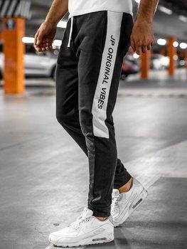 Чорні чоловічі спортивні штани Bolf N1216