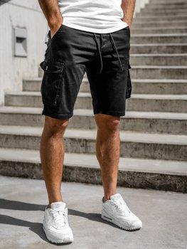 Чорні чоловічі шорти-карго Bolf 5011