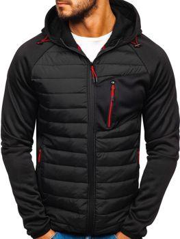 Чоловіча демісезонна спортивна куртка чорна Ks1893