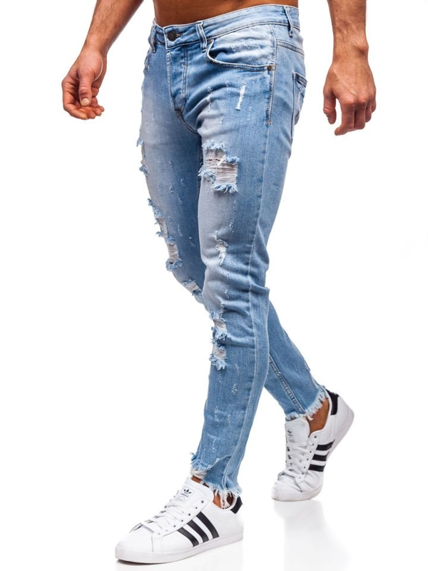Джинси чоловічі skinny fit темно-сині Bolf KA279