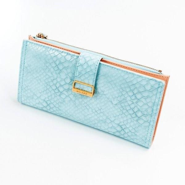 Жіночий гаманець з еко шкіри синій 1040