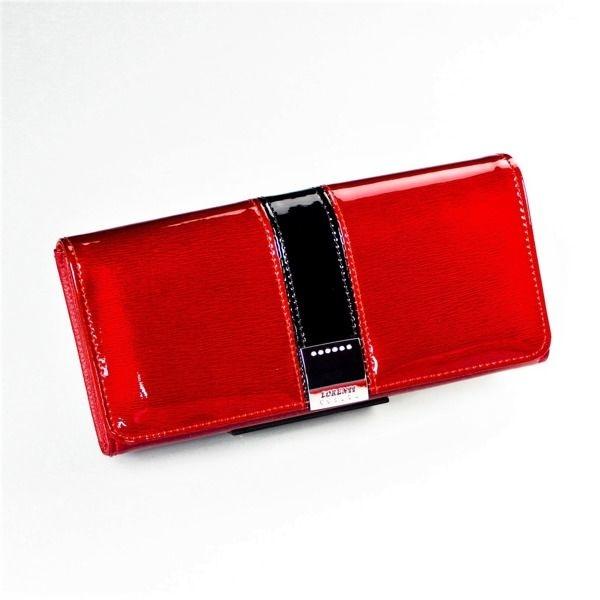 Жіночий шкіряний гаманець червоний 1215