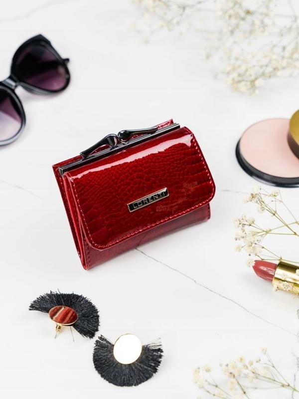 Жіночий шкіряний гаманець червоний 2103
