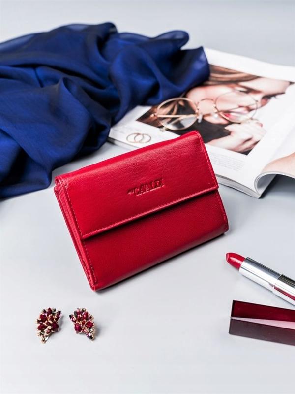 Жіночий шкіряний гаманець червоний 2411