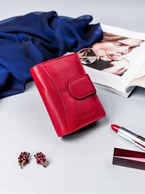 Жіночий шкіряний гаманець червоний 2417