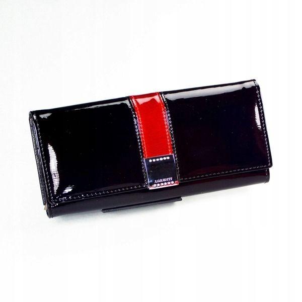 Жіночий шкіряний гаманець чорний 1161