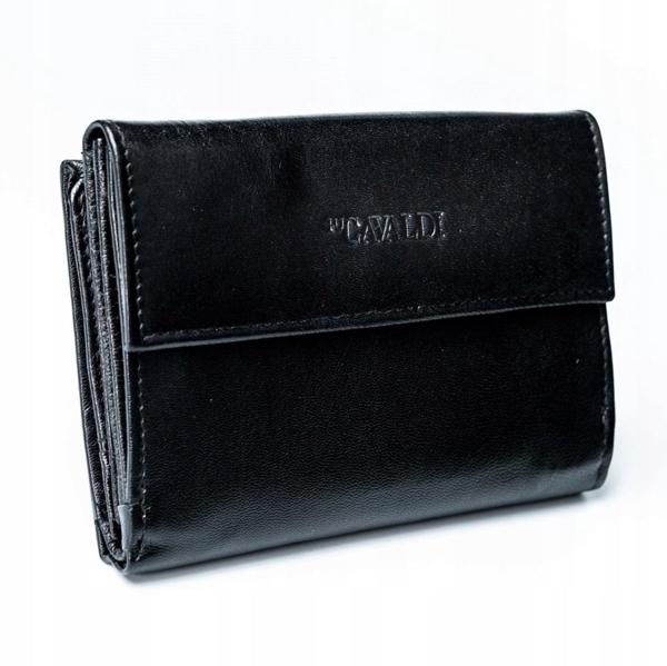 Жіночий шкіряний гаманець чорний 2779