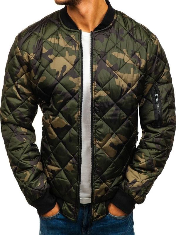 Чоловіча демісезонна куртка бомбер камуфляж-мультиколор Bolf MY09-A