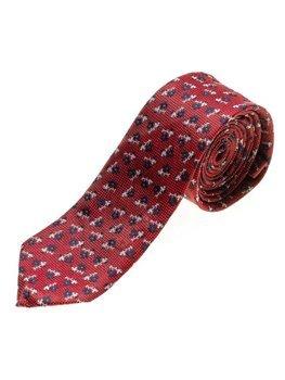 Чоловіча елегантна краватка червона Bolf K103