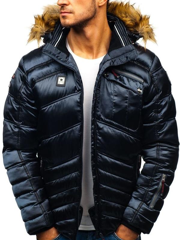 Чоловіча зимова куртка лижна графітова Bolf K30