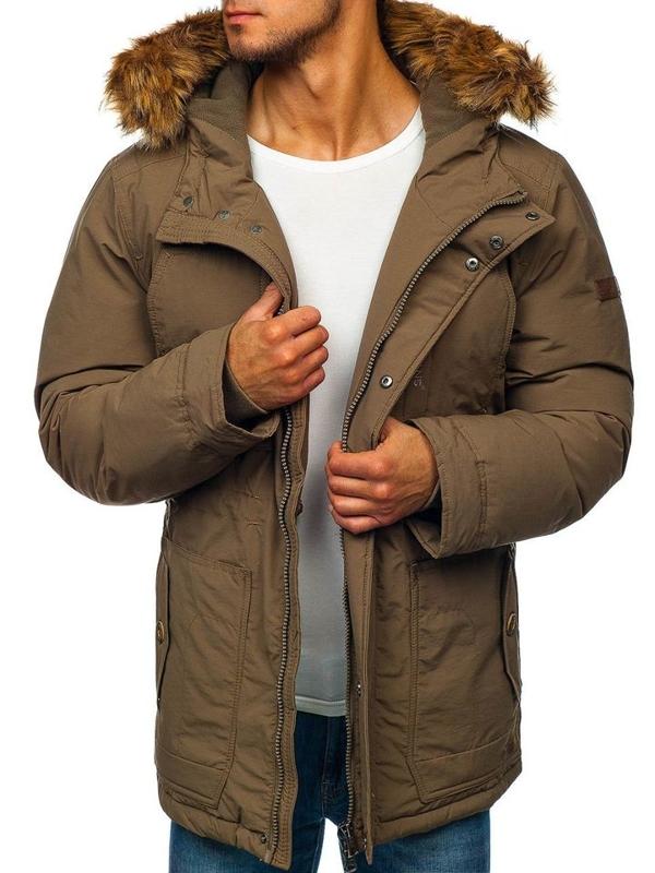 Чоловіча зимова куртка парка хакі Bolf 40131