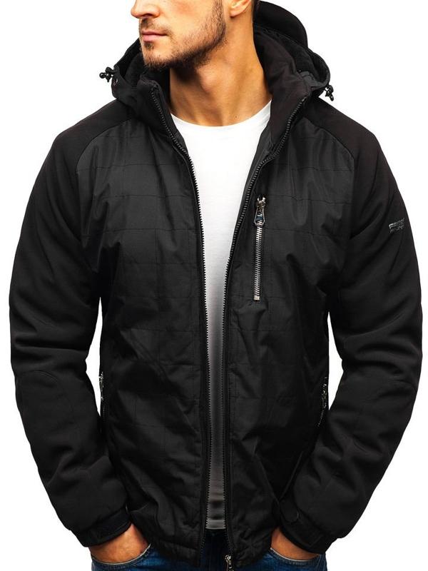 Чоловіча зимова куртка чорна Bolf 5681