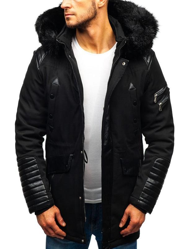 Чоловіча зимова куртка чорна Bolf 99111