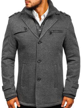 Чоловіче зимове пальто сіре Bolf 88805