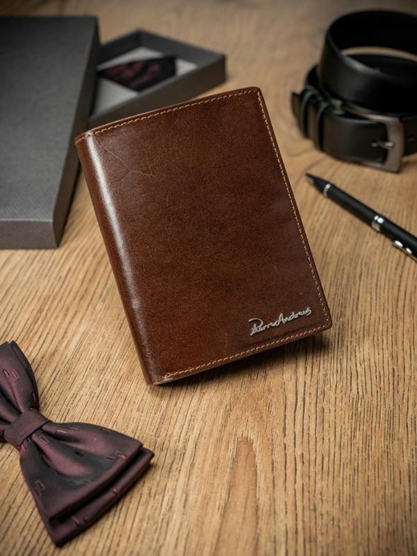 Чоловічий гаманець шкіряний коричневий 1684