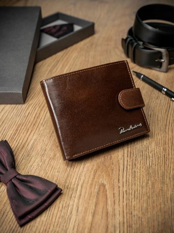 Чоловічий гаманець шкіряний коричневий 1685