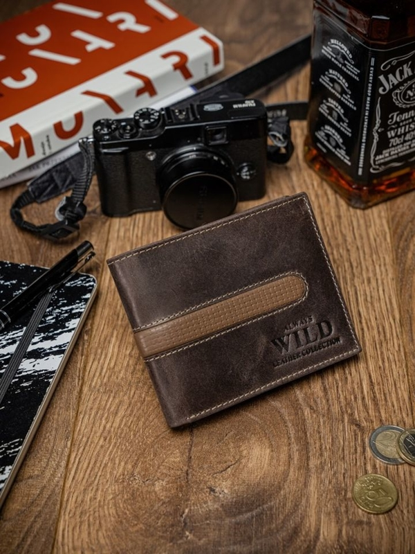 Чоловічий гаманець шкіряний коричневий 2031